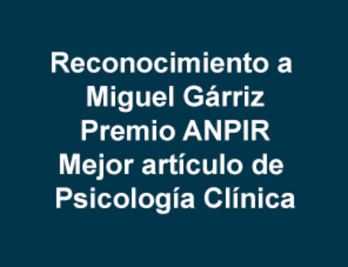 Mejor artículo sobre Psicología Clínica en el Sistema de Salud (ANPIR)